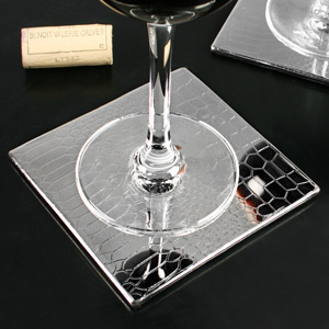 Stainless Steel Crocodile Etched Coasters