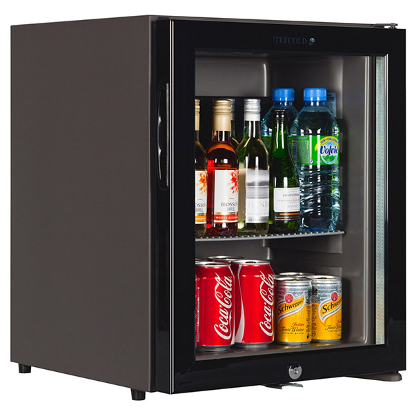 caldura glass door mini bar 30ltr black tefcold tm32g mini bar - Mini Fridge Glass Door