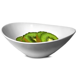 Curved Melamine Bowl White