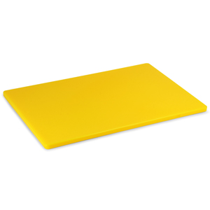 Colour Coded Chopping Board Yellow LDPE 1/2inch