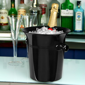 Acrylic Wine & Champagne Bucket Black