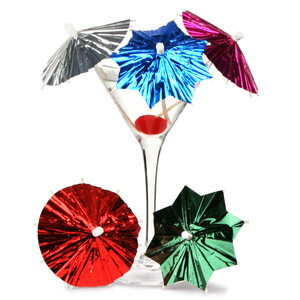 Foil Deco Cocktail Umbrellas