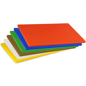 Colour Coded Chopping Board Set LDPE 1/2inch