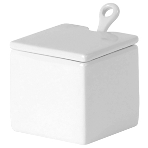 Porcelite Creations Jam / Sugar Pot with Spoon 7 x 7cm