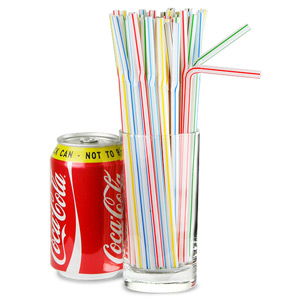 Bendy Straws 8inch Candy Stripe