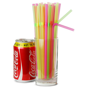 Bendy Straws 8inch Neon