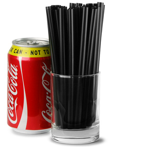 Jumbo Smoothie Straws 6inch Black