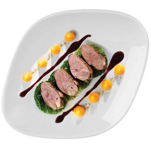 Porland Perspective Diamond Dinner Plate 26.5 x 26.5cm