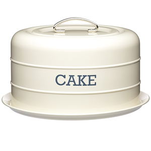Living Nostalgia Domed Cake Tin Antique Cream