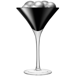 LSA Midi Cocktail Glass Black 60oz / 1.7ltr