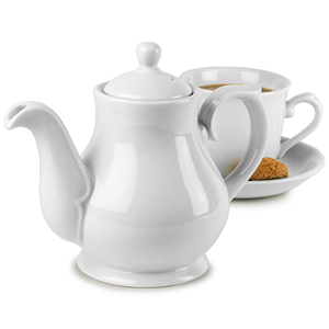 Churchill White Sandringham Coffee / Tea Pot PS15 15oz / 42.6cl