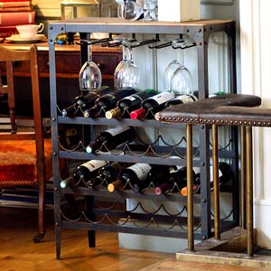 Aged Rust Wine Rack 24 Bottle