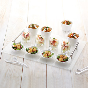 17 Piece Glass Appetiser Gift Set