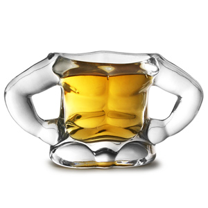 Bodybuilder Shot Glass 1.1oz / 30ml