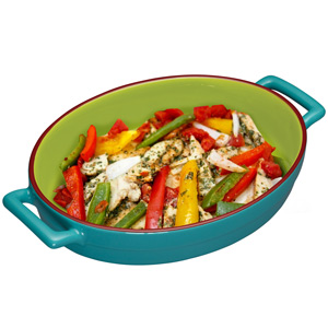 World of Flavours Mexican Individual Baking Dish Teal