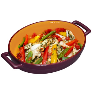 World of Flavours Mexican Individual Baking Dish Plum