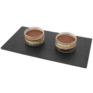 Genware Slate / Granite Effect Reversible Melamine Platter 32 x 18cm