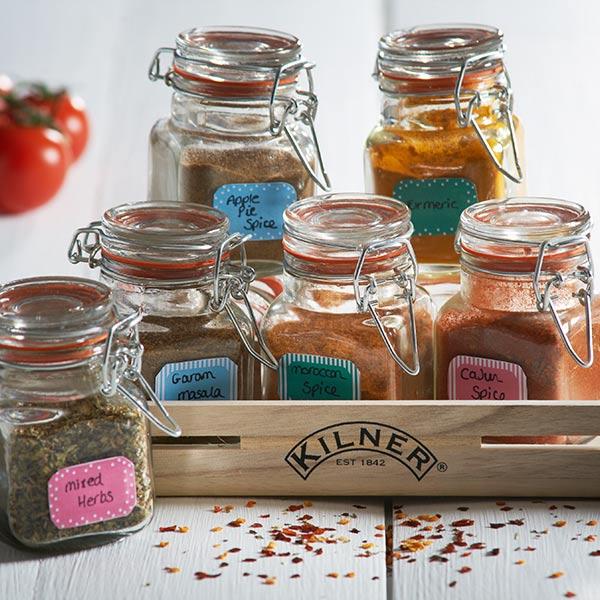 Kilner 20 Piece Spice Jar Gift Set Drinkstuff