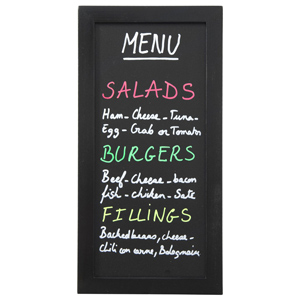 Securit Wall Chalk Board 20 x 40cm