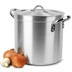 Deep Stockpot & Lid 17ltr