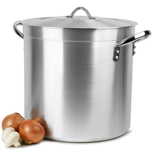 Deep Stockpot & Lid 37ltr