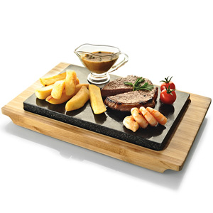 Typhoon Hot Stone & Bamboo Serving Set
