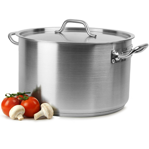 Genware Casserole Pot & Lid 31ltr