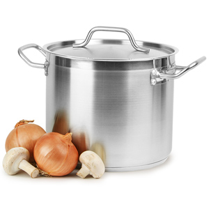 Stainless Steel Stockpot & Lid 8ltr