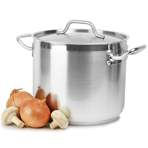 Stainless Steel Stockpot & Lid 12ltr