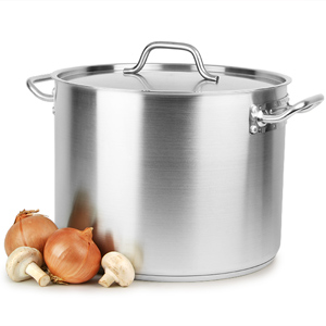 Stainless Steel Stockpot & Lid 24ltr
