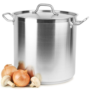 Stainless Steel Stockpot & Lid 18ltr