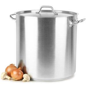 Stainless Steel Stockpot & Lid 50ltr