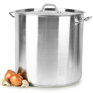 Stainless Steel Stockpot & Lid 71ltr