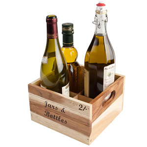 Baroque Bottle Crate for Jars & Bottles
