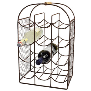Provence 12 Bottle Wine Rack Rustic Brown