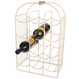 Provence 12 Bottle Wine Rack Cream