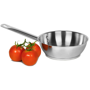 Genware Stainless Steel Sauteuse Pan 1.6ltr