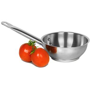 Genware Stainless Steel Sauteuse Pan 1ltr