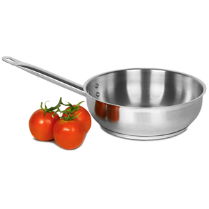 Genware Stainless Steel Sauteuse Pan 2.8ltr