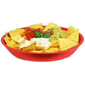 "Round Diner Platter Red 9"" / 23cm"