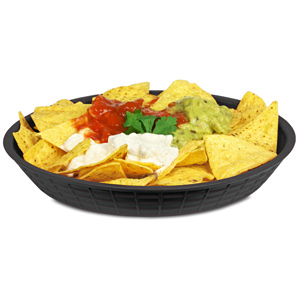 "Round Diner Platter Black 9"" / 23cm"