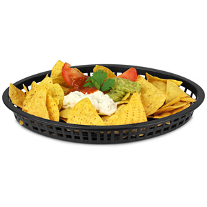 Texas Oval Platter Basket Black 32.5x24x4cm
