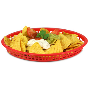 Texas Oval Platter Basket Red 32.5x24x4cm