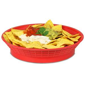 Round Diner Platter with Base Red 10.5inch / 27cm