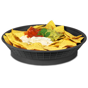 "Round Diner Platter with Base Black 10.5"" / 27cm"