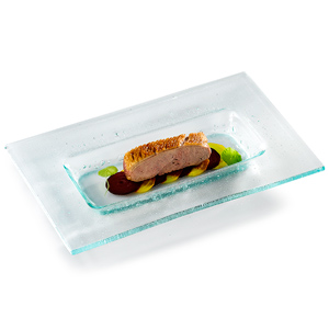 Decorglass Rectangular Glass Tray