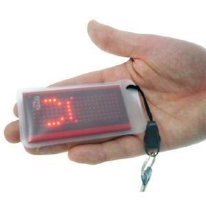 Drinkstuff - Tagz LED Messenger Scrolling Badge Novelty Badge Text Writing Message Gift UK Buy