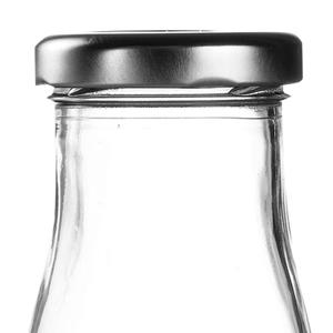 Silver Caps for Mini Milk Bottles