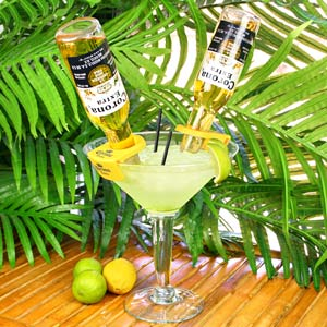 CoronaRita Bottle Holders & Grande Martini Glass