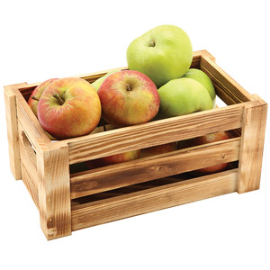 Genware Wooden Crate Rustic Finish 27 x 16 x 12cm